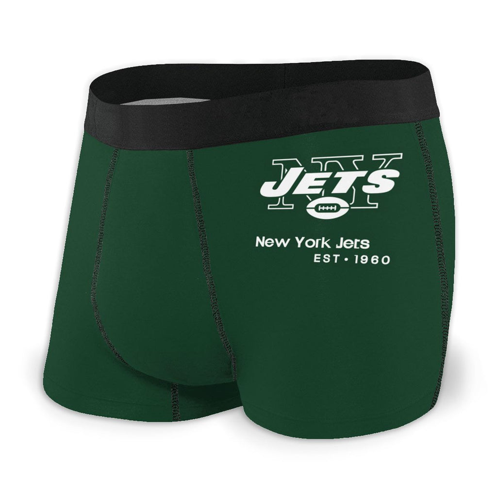 New York Jets Fashion Graphic Men's Underwear Boxer Briefs NFL American Football Team