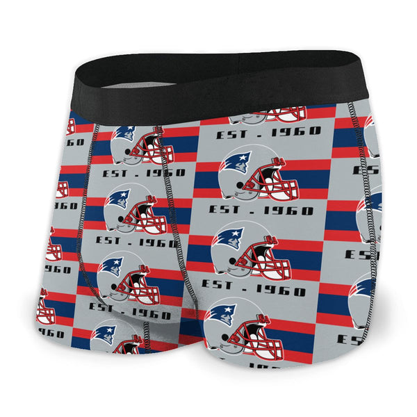 New England Patriots Fashion Graphic Men's Underwear Boxer Briefs NFL American Football Team