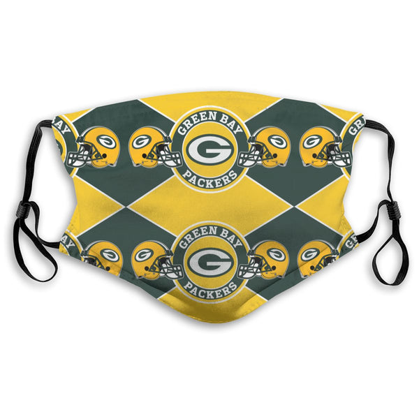 American Football Team Green Bay Packers Face Mask Mouth Mask Fashion design