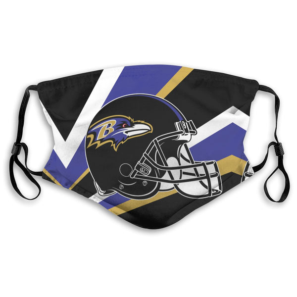 American Football Team Baltimore Ravens Face Mask Mouth Mask Fashion design