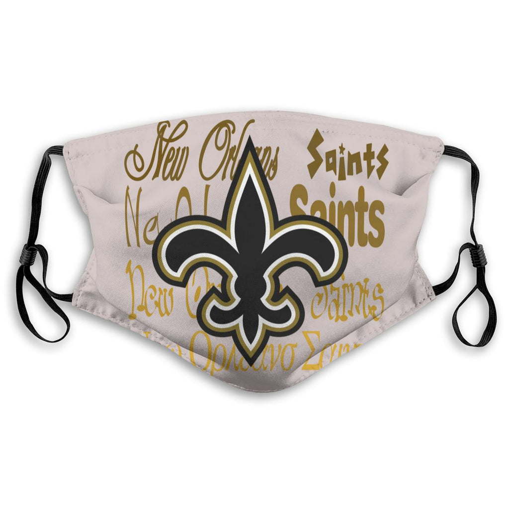 American Football Team New Orleans Saints Face Mask Mouth Mask Fashion design