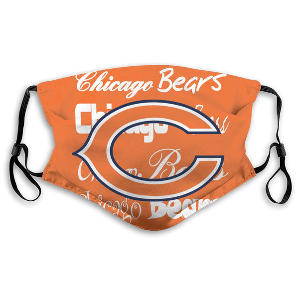 American Football Team Chicago Bears Face Mask Mouth Mask Fashion design