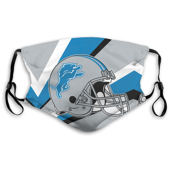 American Football Team Detroit Lions Face Mask Mouth Mask Fashion design