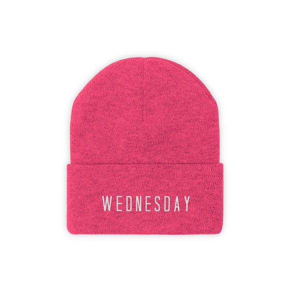 Pink Wednesday Knit Beanie | Mean Girls Beanie | Pink Mean Girls Hat