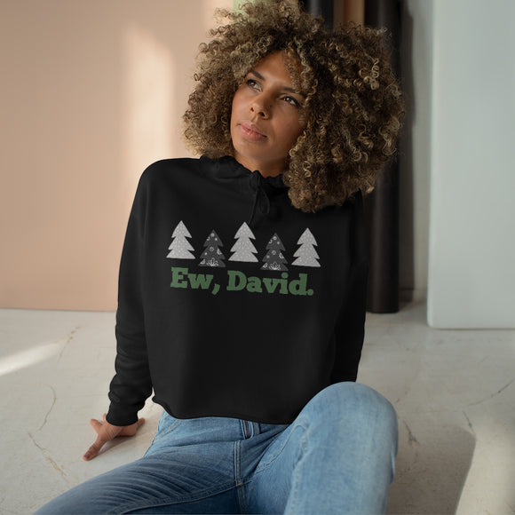 Ew David Holiday Crop Hoodie