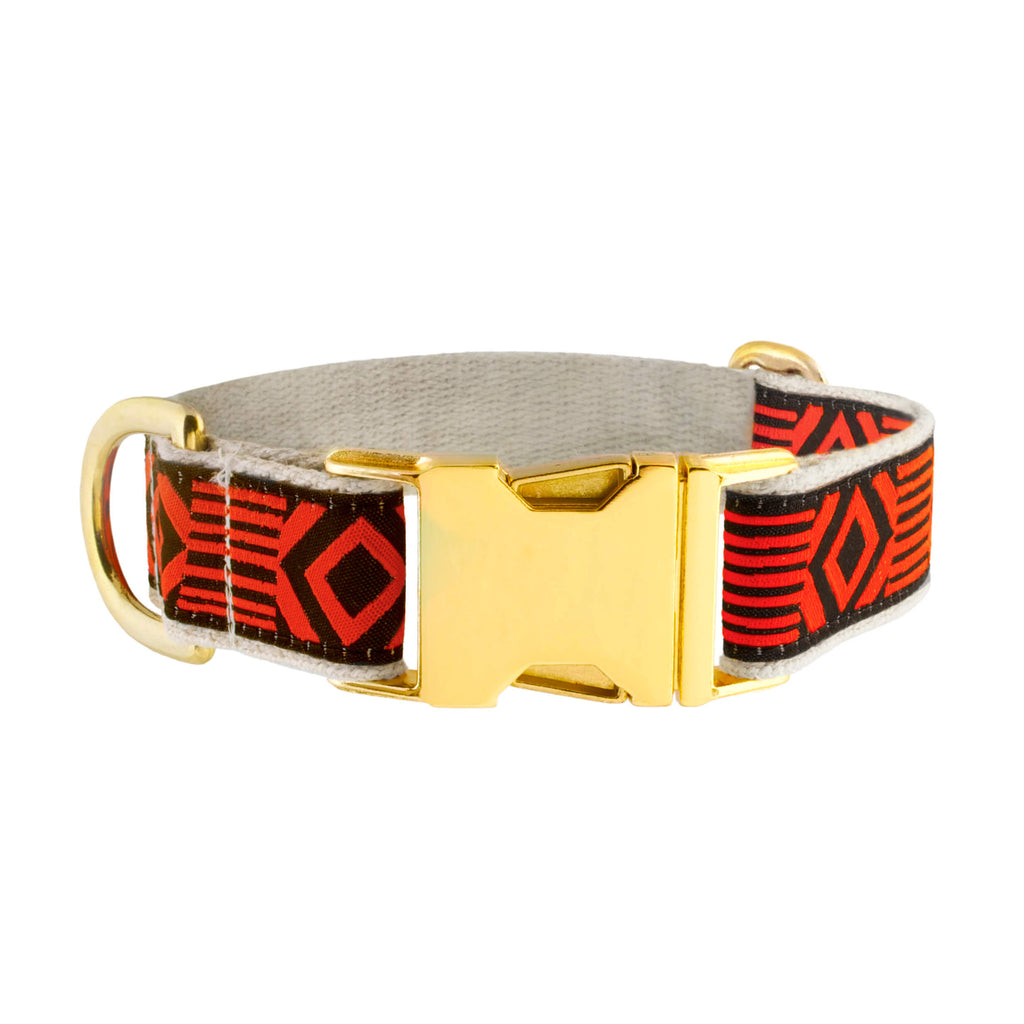 OUT OF MY BOX BLACK & VERMILLION COLLAR