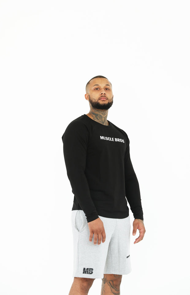 "AW19 Long Sleeve ""Italics"" - Black"