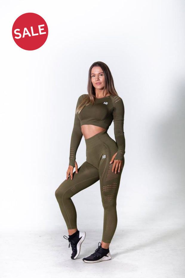 Seamless Long Sleeve Crop - Olive