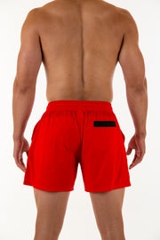"""I'm a Beast"" shorts - Red"