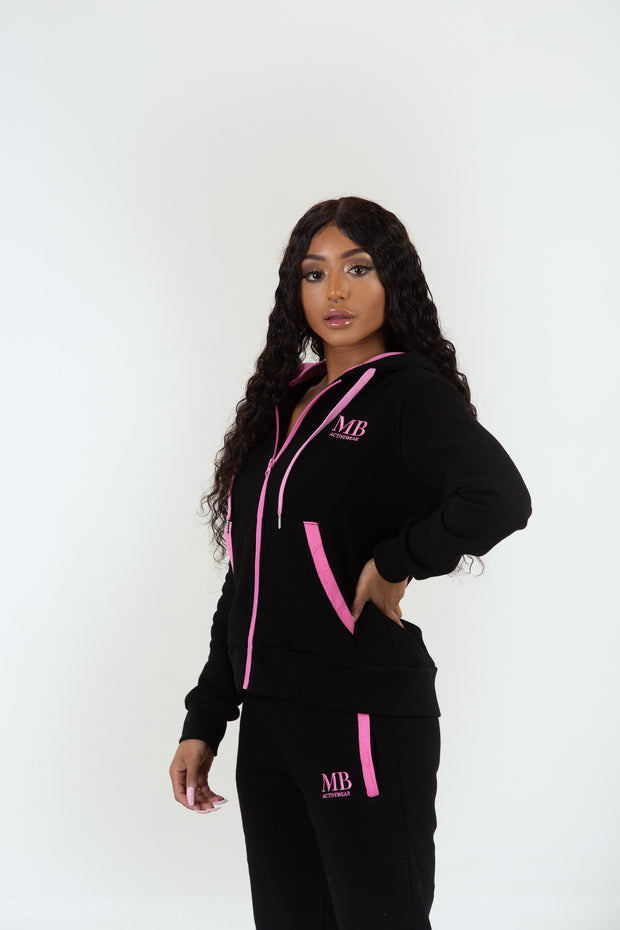 Black/Pink Zip Jacket