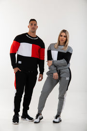 Unisex Trackpants -Black/Red/White