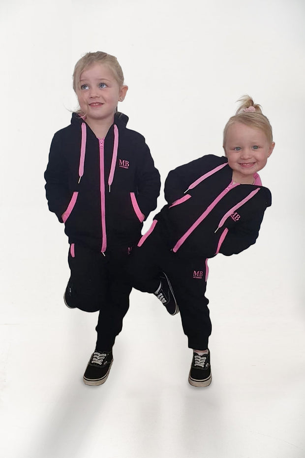 MB Mini Girls Baby Pink/Black set