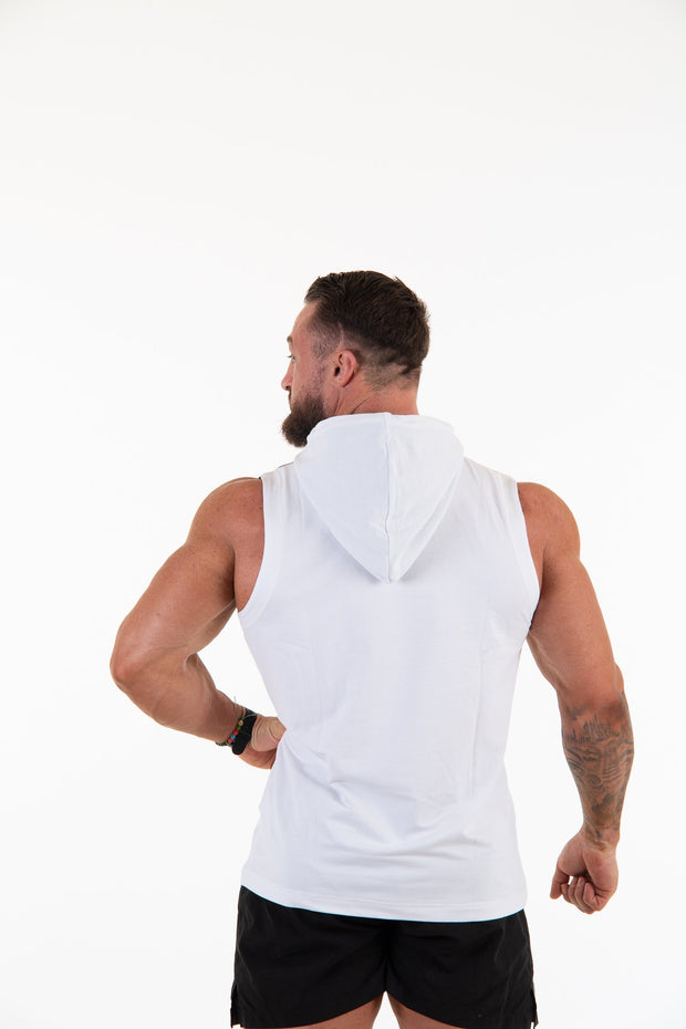 Hooded Vest - White