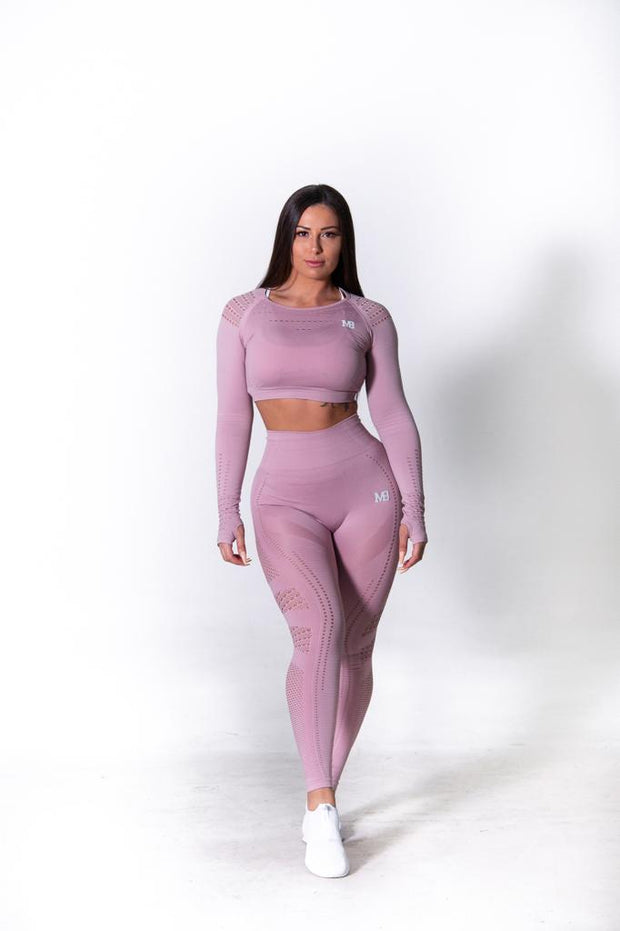 Seamless High Waisted Tights Blush Pink