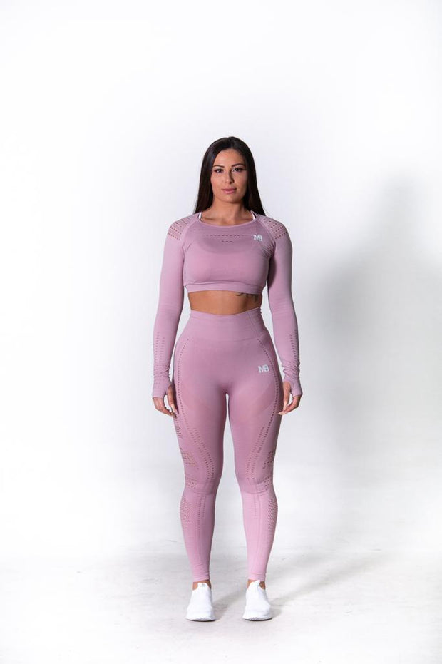 Seamless Long Sleeve Crop - Blush Pink