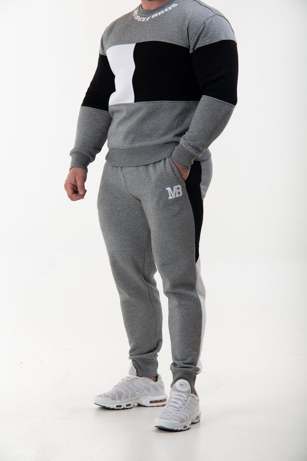 Unisex Trackpants -Grey/White/Black
