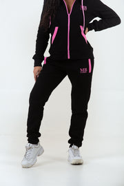 Black/Baby Pink Trackpants