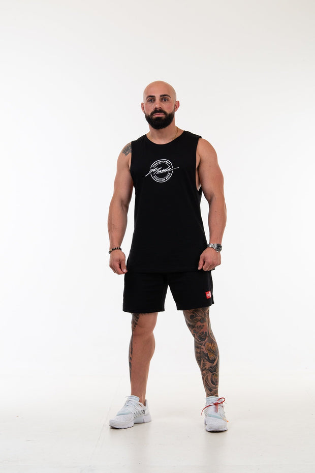 19/20 Spring Black Muscle Tee Script/Badge