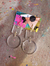 Load image into Gallery viewer, Geo Resin Drop Earrings