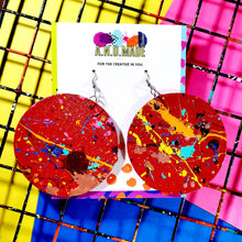 Load image into Gallery viewer, Color Wheel Color Splash Earring - 9 Colors