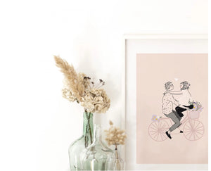 Affiche A4 Sur mon vélo My Lovely Things