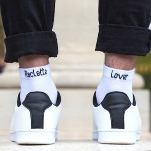 Chaussettes à message Raclette lover - Taille homme