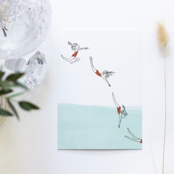 Carte postale Le grand saut My Lovely Things
