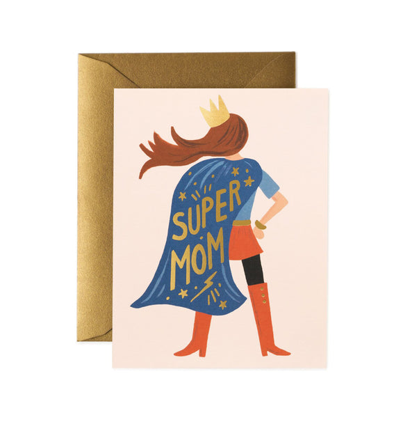 Carte postale Super mom Rifle paper
