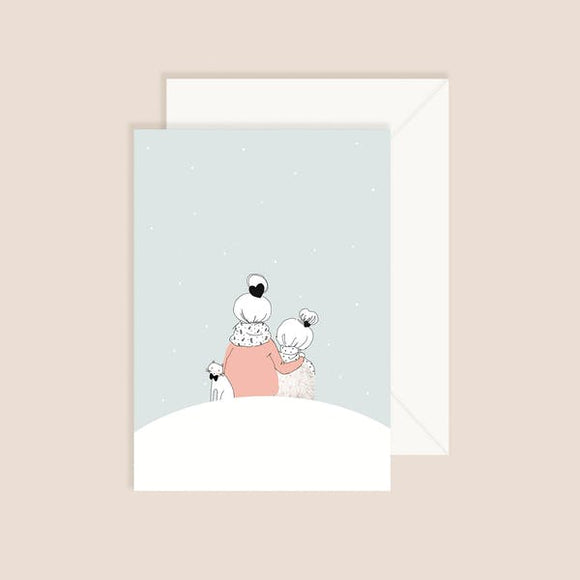 Carte postale Sous la neige My Lovely Things