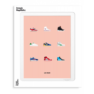 Affiche Le Duo Sneakers