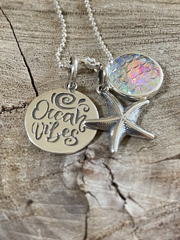 Silver 925 Necklace - Ocean Vibes