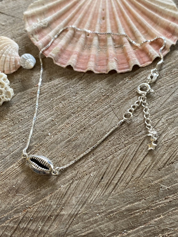 Silver 925 Anklet - Cowrie Shell