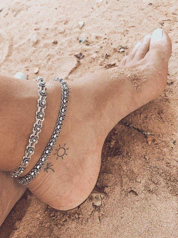 Silver 925 Anklet - Isis