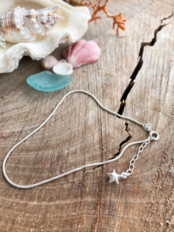 Silver 925 Anklet - Shooting Star