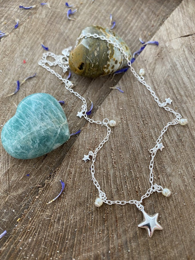 Silver 925 Necklace - Tiny Stars Big Wishes