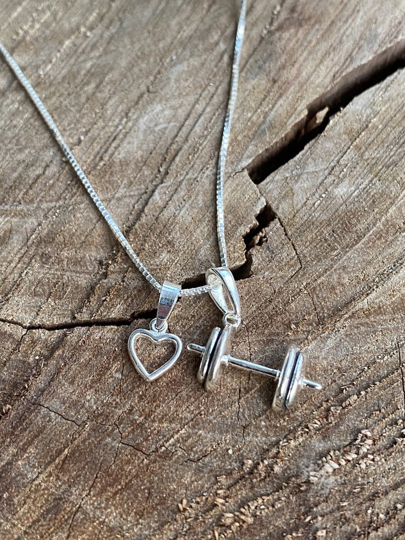 Silver 925 Necklace - Workout Love