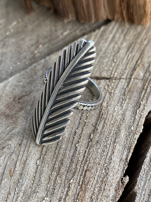 Silver 925 Ring - Feather Wisdom