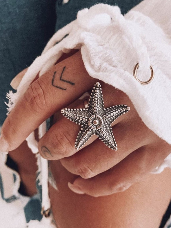 Silver 925 Ring - Starfish