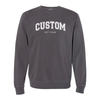 Varsity Outline Print - Independent Pigment Dyed Crewneck