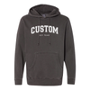 Varsity Outline Print - Independent Pigment Dyed Hooded Sweatshirt