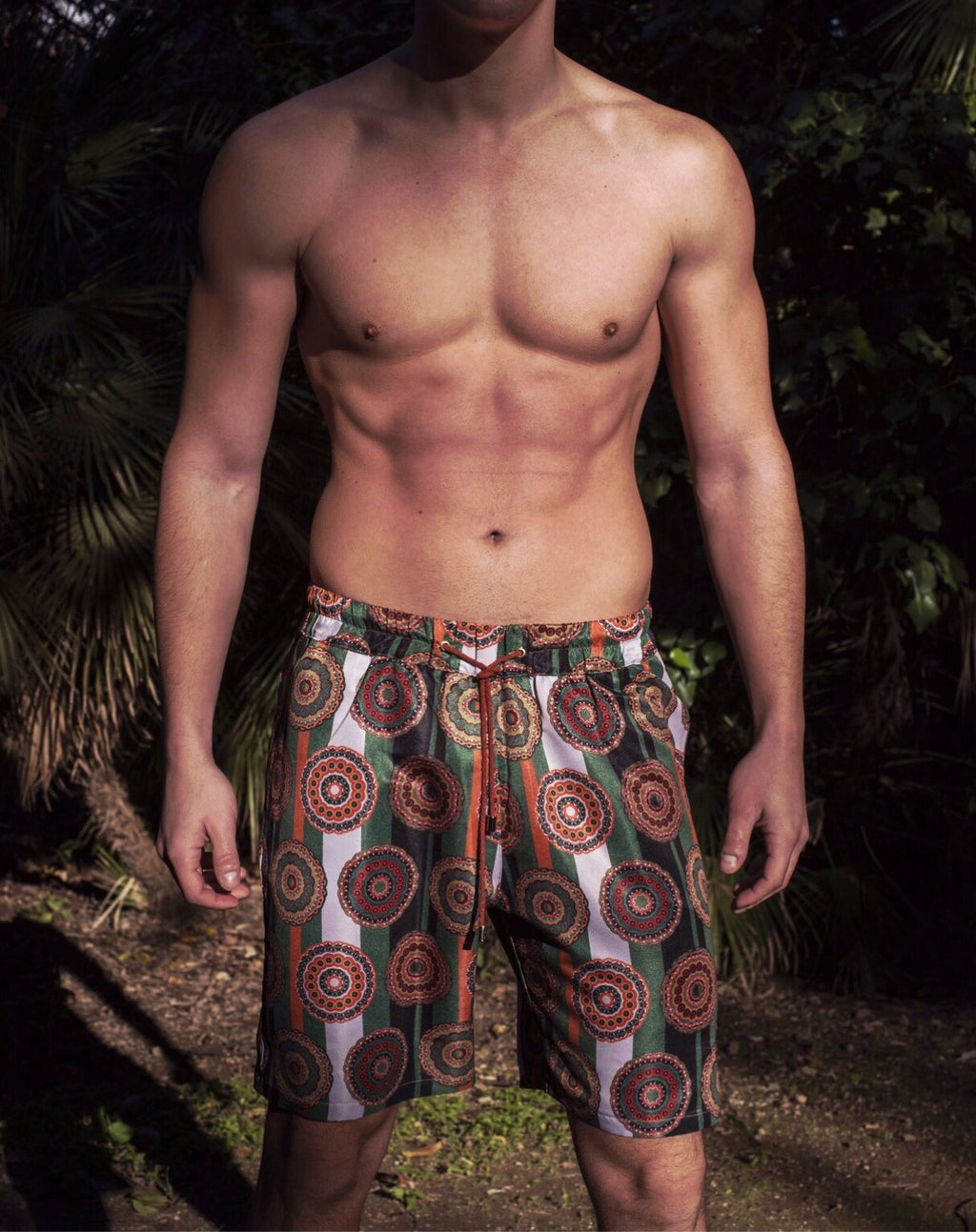 RETRO ROUNDS SWIM SHORTS