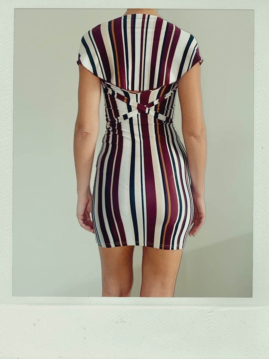STRIPE ATTACK DRESS