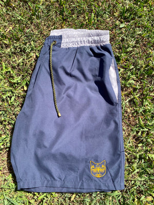 NAVY CAT SWIM SHORTS