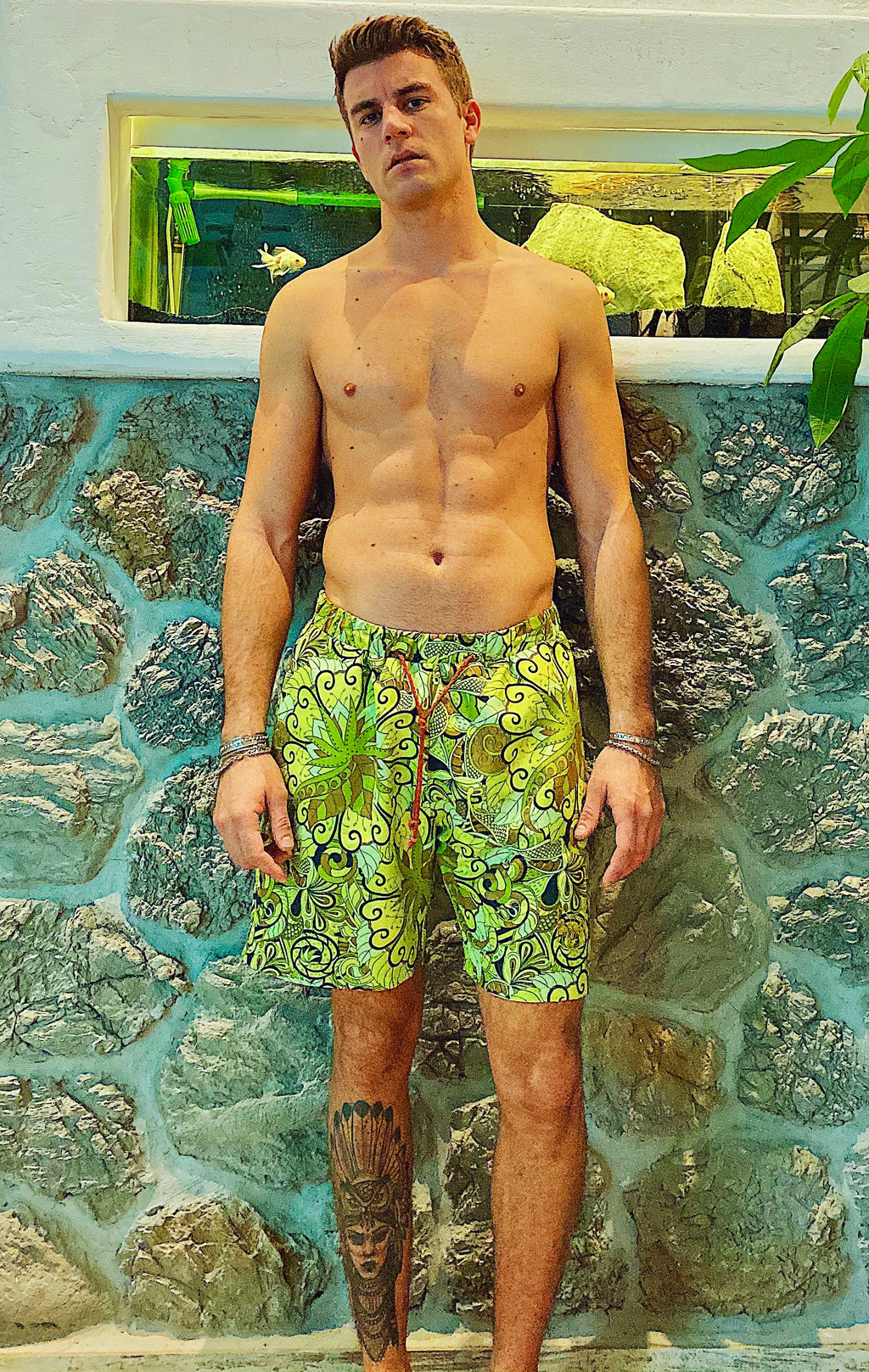 RETRO FLOWERS SWIM SHORTS