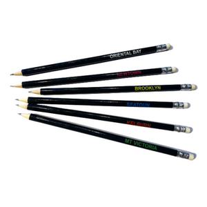 Wellington Postcode Envy Pencils - Pack of 5