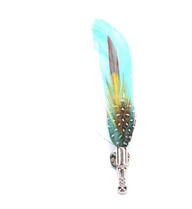 Handcrafted Feather Brooches - Various Colours