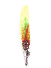 Load image into Gallery viewer, Handcrafted Feather Brooches - Various Colours