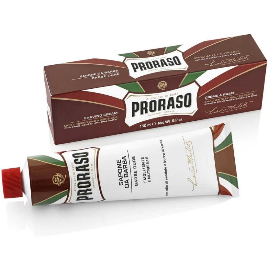 Proraso Shaving Cream Tube - Sandalwood and Shea