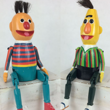 Load image into Gallery viewer, Bert and Ernie Wooden Figurines