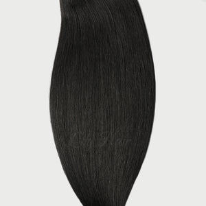 #1 Jet Black Color Micro Ring Hair Extensions